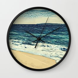 The beach and the sea at Cannes French Riveria Wall Clock