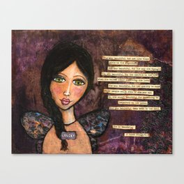 She is Beautiful Canvas Print