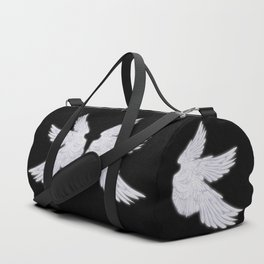 White Archangel Wings Duffle Bag