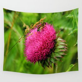 The thistle and a fly Wall Tapestry