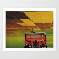 safari Art Prints featuring Safari by michaelbuishas
