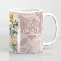 comic book Mugs featuring A Comic Book Villian  by Berni Store