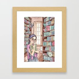 The Librarian Framed Art Print