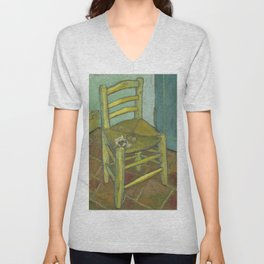 Van Gogh's Chair Unisex V-Neck