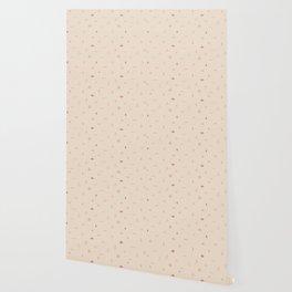 Southwestern Symbolic Pattern in Coral & Cream Wallpaper