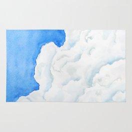 summer cloud watercolor Rug