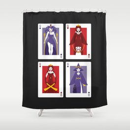 Poker of Queens Shower Curtain