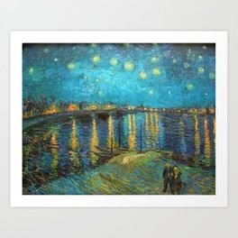 Starry Night Over the Rhone River by Vincent van Gogh Art Print