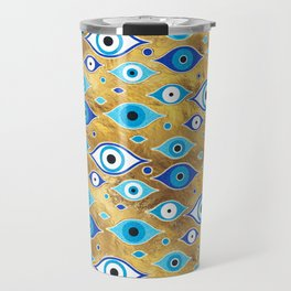 Greek Mati Mataki - Matiasma Evil Eye pattern Travel Mug