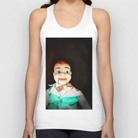 creepy Tank Tops featuring Creepy Dummy by Colleen Farrell