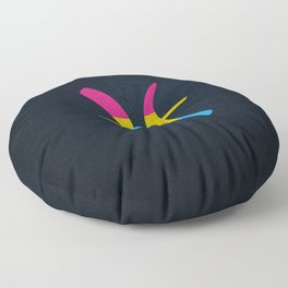 Pansexual Pride Flag Pisces Zodiac Sign Floor Pillow