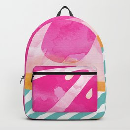 Pink Grapefruit Abstract Backpack