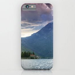 Sunset over Bay of Kotor iPhone Case