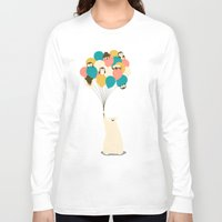 penguin Long Sleeve T-shirts featuring Penguin Bouquet by Jay Fleck