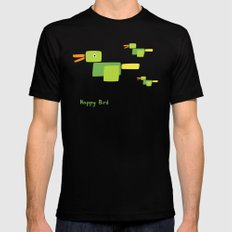 Happy Bird-Green Black MEDIUM Mens Fitted Tee