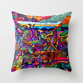 A Future Underground City Throw Pillow