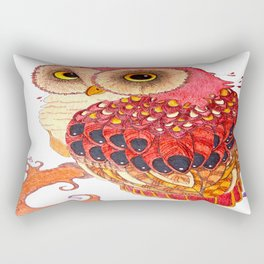 Day Owl Rectangular Pillow