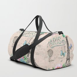Paris - my love - France Nostalgy - pink French Vintage Duffle Bag