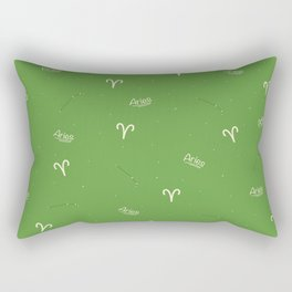 Aries Pattern - Green Rectangular Pillow