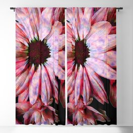 Pink Spotted Chrysanthemums Blackout Curtain