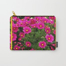 DECORATIVE FUCHSIA PINK COSMOS GARDEN FLOWERS Carry-All Pouch