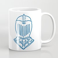knight Mugs featuring Knight by taichi_k