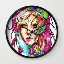 Spirit Of the Peacock Wall Clock