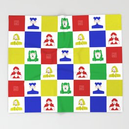CHECKER COLOR GIRLS Throw Blanket