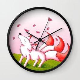 Sakura Winds Wall Clock