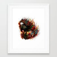 the winter soldier Framed Art Prints featuring Winter Soldier by ururuty