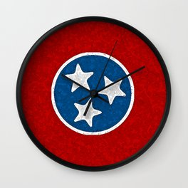 Fancy Flag:  Tennessee Wall Clock