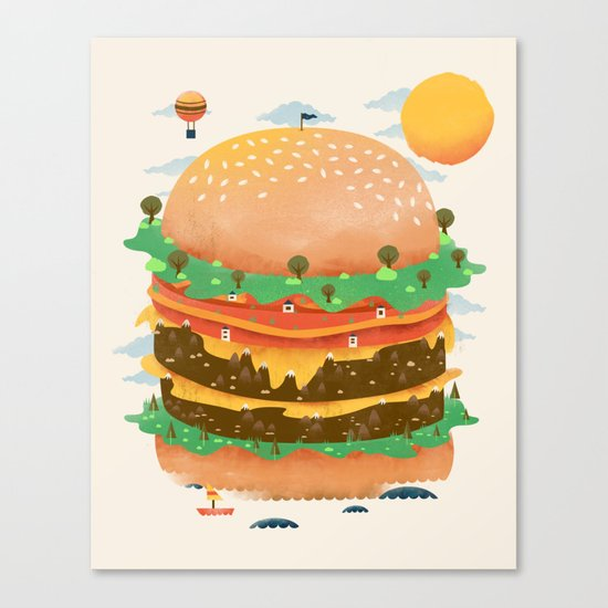 Burgerland Canvas Print