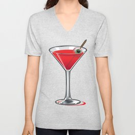 Creepy Martini Unisex V-Neck