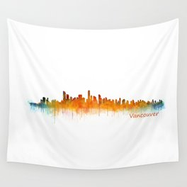 Vancouver Canada City Skyline Hq v02 Wall Tapestry