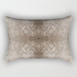 WARM SILVER FADED DAMASK  Rectangular Pillow