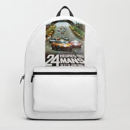 1966 Le Mans poster, Race poster, car poster, garage poster Backpack