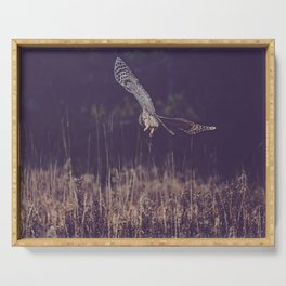 Barred Owl Hunting Serving Tray