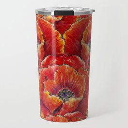 Big red poppies Travel Mug