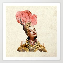 Carmen Miranda - The Brazilan Bombshell - Watercolor Art Print