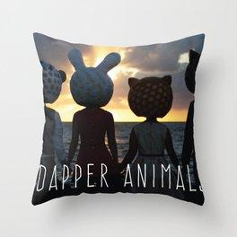 Dapper Animals Sunset Throw Pillow