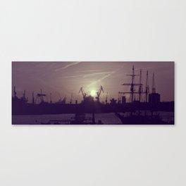 Hamburg Harbor - Small Canvas Print