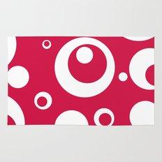 Circles Dots Bubbles :: Geranium Rug