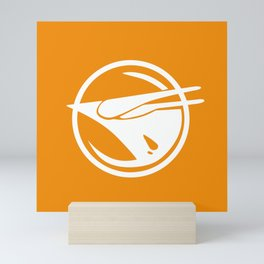 Rebel Phoenix orange Mini Art Print