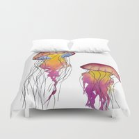 swim Duvet Covers featuring Swim  by Hedda Hultman