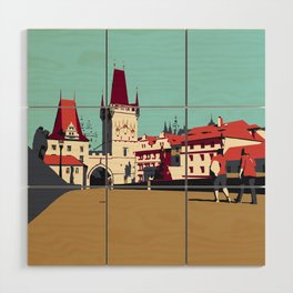 Charles Bridge Wood Wall Art
