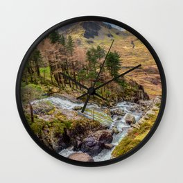 Snowdonia Landscape Winter Wall Clock