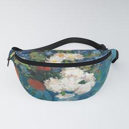 Van Gogh Poppies Cornflowers Blue Vase Low Poly Fanny Pack