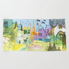 Norwich- City of Stories Beach Towel