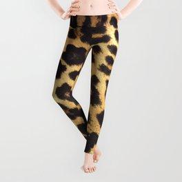 Leopard Print pattern - Leopard spots - Texture Leggings