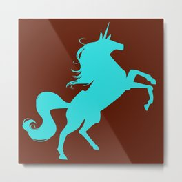unity university unicorns (cyan) Metal Print